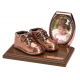 Bronze - Baby Shoes - Oval frame - Product Code #82