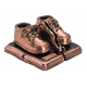 Bronze - Baby Shoes - Metal Bookends  - Product Code #91
