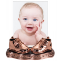 Bronze - Baby Shoes - 8x10 frame with Premium Base  - Product Code #43