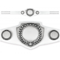 Championship Belt - White Belt with Antique Silver Plate