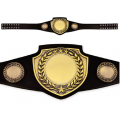 Championship Award Belt - Antique Gold with Black Leather