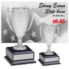 "Cups - Econo Cups - Ebony Step Base-7"""