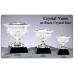 "Cups - LC22 - Crystal Vase on Black Crystal Base -10"""