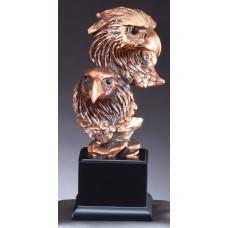 """Eagle Awards - Bronze Double Eagle Heads 10"""""""