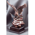 Eagle Awards - Bronze Eagle Perched on Flag
