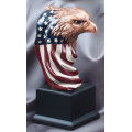 Eagle Awards - Bronze Eagle Flag Head 9.5""