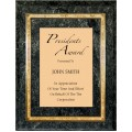 Plaques - #Black Marble with Florentine Border