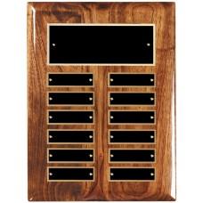 Multi Piano Finish Walnut 12-Plate Perpetual Plaque