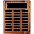 Multi Piano Finish Walnut 24-Plate Perpetual Plaque