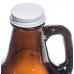 Bar Glass - #70217 | 64 oz. Glass Amber Growler