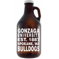 Bar Glass - #70217 | 64 oz. Glass Amber Growler