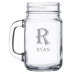 Bar Glass - #91084 | 16oz. Square Country Glass with Handle - Mason Jar