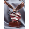 Eagle Awards - Bronze Eagle on Flag 10""