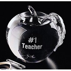 Paperweight - Crystal Apple #9301