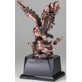 Eagle Awards - Bronze Perched Eagle with Flag 10.5""