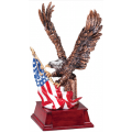 Eagle Awards - Bronze Eagle with Flag 9.25""