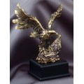 Eagle Award - #Gold Eagle Perched 7.5""