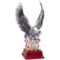 Eagle Awards - #Silver Eagle with Crossed Flags 11""
