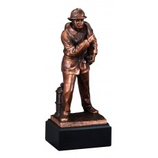 Resin Trophies - #Fireman Sculpture