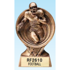 "Resin Trophies - #Football 6"" Resin Awards"