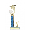 Trophies - #Baseball Shooting Star Spinner C Style Trophy