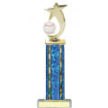 Trophies - #Baseball Shooting Star Spinner D Style Trophy