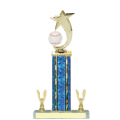 Trophies - #Baseball Shooting Star Spinner E Style Trophy