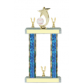 Trophies - #Baseball Shooting Star Spinner F Style Trophy