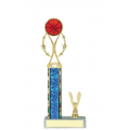 Trophies - #Basketball Vertical Star Riser C Style Trophy
