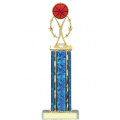 Trophies - #Basketball Vertical Star Riser D Style Trophy