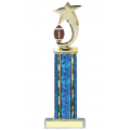 Trophies - #Football Shooting Star Spinner D Style Trophy