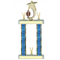 Trophies - #Football Shooting Star Spinner F Style Trophy