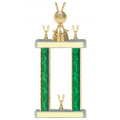 Trophies - #Golf Ball And Club Style F Trophy