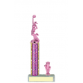 Trophies - #Cheerleading Pink C Style Trophy