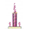 Trophies - #Cheerleading Pink F Style Trophy