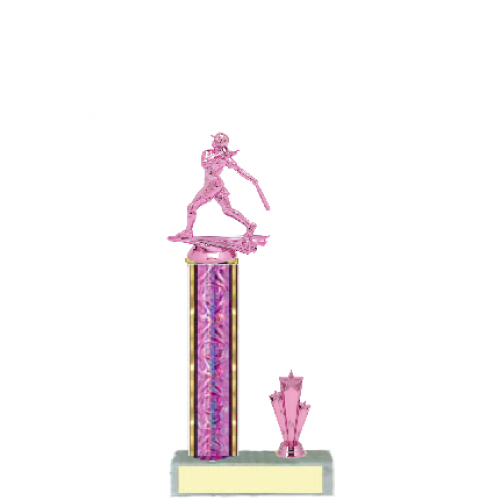 trophies softball pink c style trophy