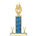 Trophies - #E-Style Volleyball Female Double Action Laurel