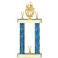 Trophies - #F-Style Volleyball Female Double Action Laurel