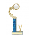Trophies - #C-Style Volleyball Ribbon Star