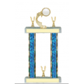 Trophies - #F-Style Volleyball Ribbon Star